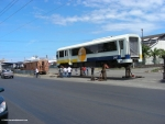 Heredia trains at the port in Limon