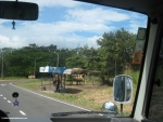 Bus stop on the Panamericana