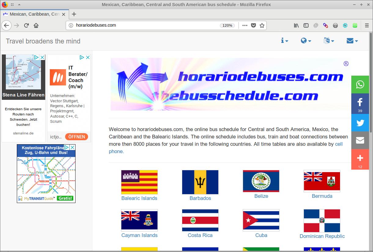 pagina de horariodebuses.com